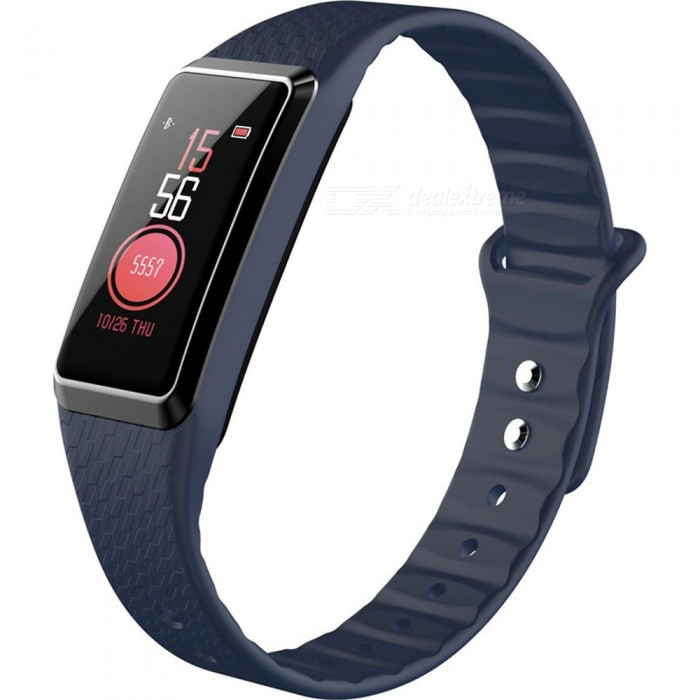B22 Color Screen Intelligent Smart Bluetooth Bracelet Wristband Heart Rate / Blood Pressure Monitoring - BlueSmart Bracelets<br>ColorBlueModelB22Quantity1 piecesMaterialSilica gelWater-proofIP67Bluetooth VersionBluetooth V4.0Touch Screen TypeIPSOperating SystemAndroid 4.4,iOSCompatible OSAndroid  IOSBattery Capacity90 mAhBattery TypeLi-ion batteryStandby Time25 dayPacking List1 x Smart Bracelet1 x Charging Cable1 x User Manual<br>