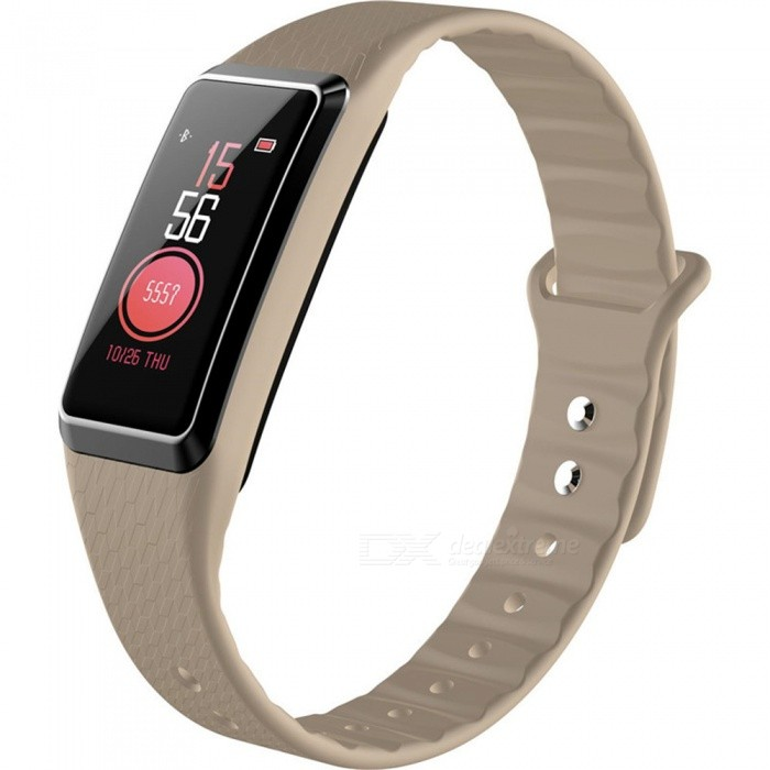 B22 Color Screen Intelligent Smart Bluetooth Bracelet Wristband Heart Rate / Blood Pressure Monitoring - GoldSmart Bracelets<br>ColorGoldModelB22Quantity1 piecesMaterialSilica gelWater-proofIP67Bluetooth VersionBluetooth V4.0Touch Screen TypeIPSOperating SystemAndroid 4.4,iOSCompatible OSAndroid  IOSBattery Capacity90 mAhBattery TypeLi-ion batteryStandby Time25 dayPacking List1 x Smart Bracelet1 x Charging Cable1 x User Manual<br>