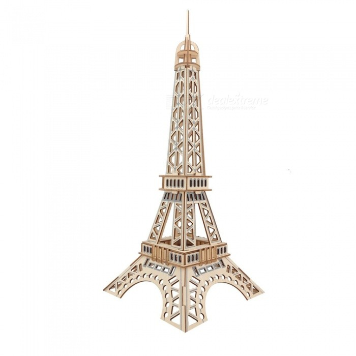 DIY Eiffel Tower Style 3D Wooden Three-Dimensional Puzzle Educational ToyBlocks &amp; Jigsaw Toys<br>ColorWood colorMaterialWoodQuantity1 setNumber52Size21x21x52Suitable Age 5-7 years,8-11 years,12-15 yearsPacking List1 x DIY Puzzle<br>