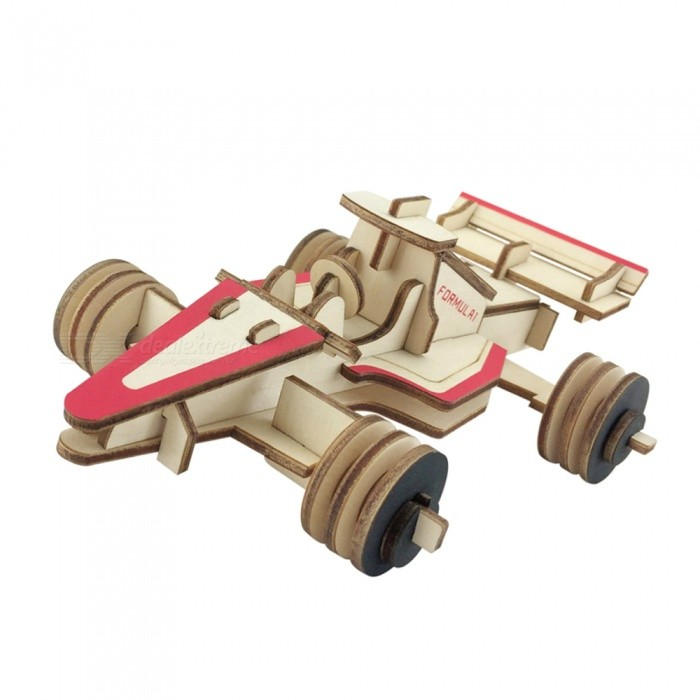 DIY Car Style 3D Wooden Puzzle ToyBlocks &amp; Jigsaw Toys<br>ColorWood color + redMaterialWoodQuantity1 setNumber52Size17.5x12x6.3cmSuitable Age 5-7 years,8-11 years,12-15 yearsPacking List1 x DIY car three-dimensional puzzle<br>