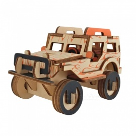 DIY Jeep Style 3D Wooden Puzzle Educational Toy