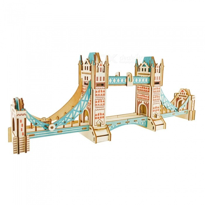 DIY Tower Bridge Style 3D Wooden Three-Dimensional Puzzle Educational ToyBlocks &amp; Jigsaw Toys<br>ColorMulticolorMaterialWoodQuantity1 DX.PCM.Model.AttributeModel.UnitNumber105Size56.4x8.4x21.4cmSuitable Age 5-7 years,8-11 years,12-15 yearsPacking List1 x DIY Tower Bridge three-dimensional puzzle<br>