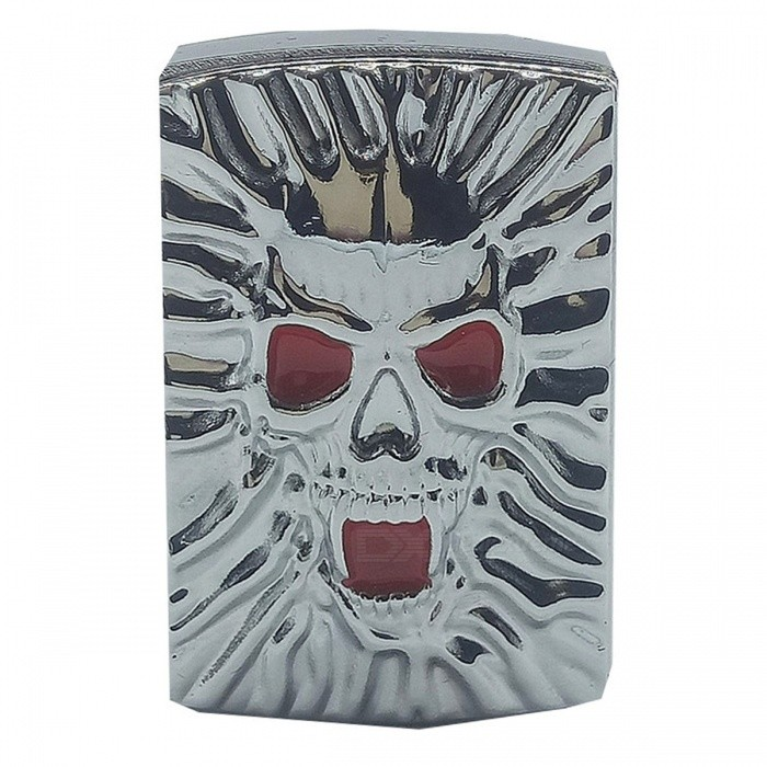 Creative Skeleton Head Pattern USB Rechchargable Cigarette LighterOther Lighters<br>ColorSilverModeln001MaterialMetalQuantity1 pieceShade Of ColorSilverTypeUSBWindproofYesFuelBatteryPower SupplyRechargeable batteriesCharging Time2 hoursPacking List1 x Lighter1 x Charging cable<br>
