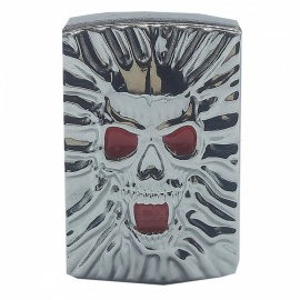Creative Skeleton Head Pattern USB Rechchargable Cigarette Lighter