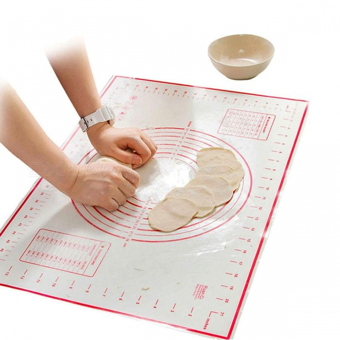 BSTUO 60*40cm Silicone Baking Mat�� Pizza Dough Maker Pastry Kitchen Gadget Cooking Utensils Pad