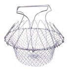 BSTUO Stainless Steel Fry Chef Basket Magic Mesh Basket Strainer Net Cooking Steam Rinse Strain Bask