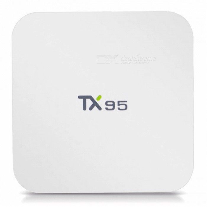 TX95 Android 6.0 S905W Quad-Core 2.4 GHz + 5.0 GHz Wi-Fi 4K Media Player TV Box with 2GB RAM, 16GB ROM (US Plug)Smart TV Players<br>ColorWhiteBuilt-in Memory / RAM2GBStorage16GBPower AdapterUS PlugModelTX95Quantity1 DX.PCM.Model.AttributeModel.UnitMaterialABSShade Of ColorWhiteOperating SystemAndroid 6.0ChipsetS905WCPUOthers,Cortex-A53Processor Frequency2.0 GHzGPUMali-450Menu LanguageEnglish,French,German,Italian,Spanish,Portuguese,Russian,Vietnamese,Polish,Greek,Danish,Dutch,Arabic,Turkish,Japanese,Bahasa Indonesia,Korean,Thai,Malay,Czech,Greek,Romanian,Chinese Simplified,Chinese TraditionalMax Extended Capacity128GBSupports Card TypeMicroSD (TF)Wi-Fi802.11 b/g/nBluetooth VersionNo3G FunctionNoWireless Keyboard/Mouse2.4G+5.8GAudio FormatsMP3,WMA,APE,FLAC,OGG,AC3,DTS,AACVideo FormatsRM,RMVB,AVI,MKV,MOV,FLV,VOB,MPG,DAT,WMVAudio CodecsDTS,AC3,FLACVideo CodecsMPEG-1,MPEG-2,MPEG-4,H.264,VC-1Picture FormatsJPEG,BMP,PNG,GIF,TIFFSubtitle FormatsMicroDVD [.sub],SubRip [.srt],Sub Station Alpha [.ssa],Sami [.smi]idx+subPGSOutput Resolution1080PHDMI2.0USBUSB 2.0Power Supply5V 2APacking List1 x TX95 TV BOX1 x HDMI cable1 x Remote control1 x User manual<br>