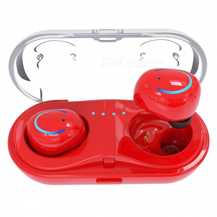 JEDX Q18 Wireless Bluetooth Earphones Sports Mini In-Ear Earphones - RedHeadphones<br>ColorredBrandOthers,JEDXModelQ18MaterialABSQuantity1 DX.PCM.Model.AttributeModel.UnitConnectionBluetoothBluetooth VersionBluetooth V4.2Operating Range12mLeft &amp; Right Cables TypeEqual LengthHeadphone StyleUnilateralWaterproof LevelIPX0 (Not Protected)Applicable ProductsUniversalHeadphone FeaturesInvisible Style,For Sports &amp; ExerciseSupport Memory CardNoSupport Apt-XNoOther FeaturesFeatures:<br><br>1. 3 d ShengYang: using CRS audio processing, through the tuners professional, sound clear and bright, HIFI stereo field, capture the details of music, song, listening with NICE18B out new feeling.<br><br>Take the headset into the rechargeable cabin. It will take only 40 minutes to recharge and solve the problem of the headset without electricity, simple and portable, and enjoy the music every moment.<br><br>3. Memory sponge ear plugs: gentle and slow, effective absorption of the impact of running, reduce vibration, low recoil release. It is aviation level cache finance. Very suitable for sports headphones. It increases the quality of sound. Protect the ear canal. It doesnt hurt to wear it long.<br><br>4. Clear communication: HIFI stereo sound, CVS professional noise reduction.<br><br>5. Smart compatibility: compatible with 99 percent of the bluetooth devices on the market, and compatible with all kinds of devices with no bluetooth capabilities.Packing List1 * Bluetooth Wireless Earbuds (Pair)1 * Charging Box<br>