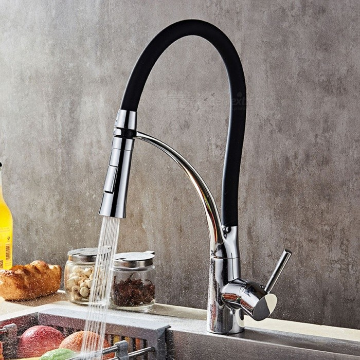 F-9071C Brass Chrome 360 Degree Rotatable Ceramic Valve Single Handle One-Hole Kitchen FaucetKitchen Faucets<br>ColorBlackSizeNorth AmericaModelF-9071CMaterialBrassQuantity1 DX.PCM.Model.AttributeModel.UnitFinishChromeValve TypeCeramic ValveNumber of handlesSingleSpout Height15 DX.PCM.Model.AttributeModel.UnitSpout Length20 DX.PCM.Model.AttributeModel.UnitTotal Height43.5 DX.PCM.Model.AttributeModel.UnitPacking List1 x Faucet2 x Stainless steel tubes (60cm)<br>
