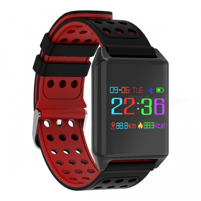 R11 Color Screen Smart Bluetooth Bracelet with Heart Rate, Blood Pressure Monitoring, Remote Camera, Healthy APP - RedSmart Bracelets<br>ColorRedModelR11Quantity1 DX.PCM.Model.AttributeModel.UnitMaterialSilica gelWater-proofIP68Bluetooth VersionBluetooth V4.0Touch Screen TypeOthers,OLEDOperating SystemAndroid 4.4,iOSCompatible OSAndroid IOSBattery Capacity110 DX.PCM.Model.AttributeModel.UnitBattery TypeLi-ion batteryStandby Time5 DX.PCM.Model.AttributeModel.UnitPacking List1 x Bracelet1 x Charger1 x User Manual<br>