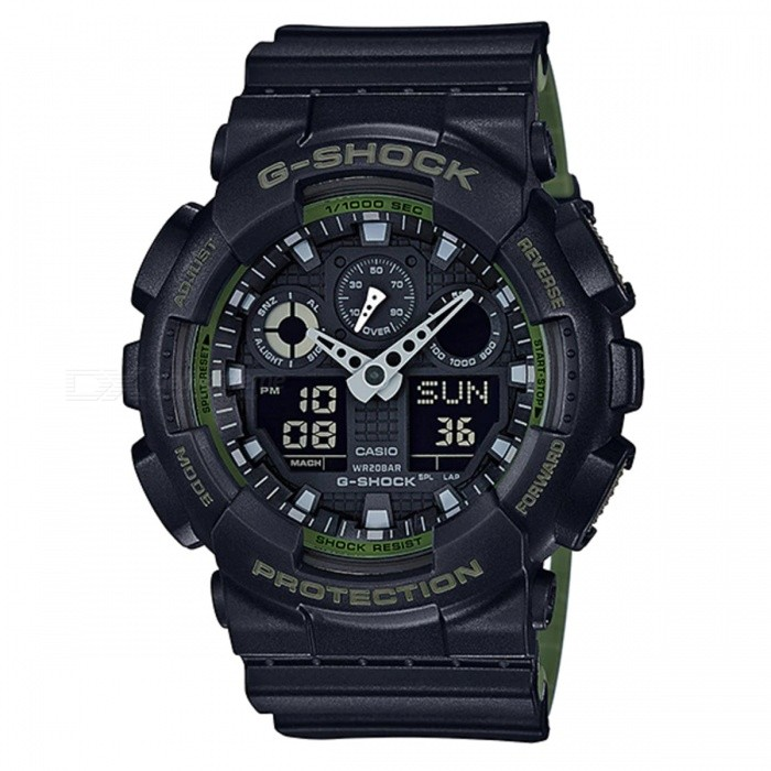 Casio G-Shock GA-100L-1A Analog Digital Watch - Black + Green - Free  Shipping - DealExtreme d2184dca0a