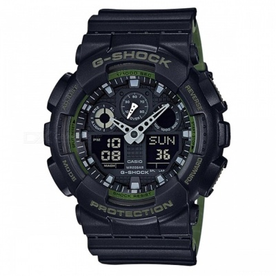 Casio G-Shock GA-100L-1A Analog Digital Watch - Black + Green