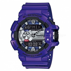 Casio G-Shock GBA-400-2A G'Mix Bluetooth Music Watch - Purple Blue