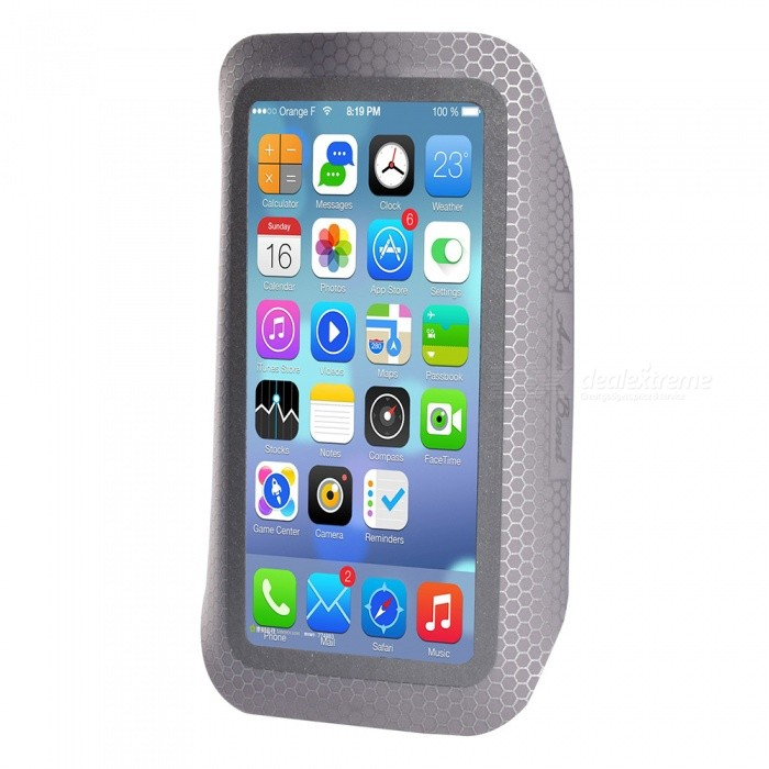 Outdoor Sports Universal Water-Resistant Phone Armband Case for IPHONE 5S / 6 / 6S / 7 / 8 and 4.5~5.2 Inches PhonesArmbands<br>ColorGreyQuantity1 DX.PCM.Model.AttributeModel.UnitMaterialHigh elastic nylon LycraCompatible ModelsiPhone 7,IPHONE 6S,IPHONE 6,IPHONE 5S,IPHONE 5C,IPHONE 5,IPHONE 4,IPHONE 4S,Others,4.5~5.2 inch universal phoneStyleArmbandsBand Length20 DX.PCM.Model.AttributeModel.UnitPacking List1 x Armband Case<br>
