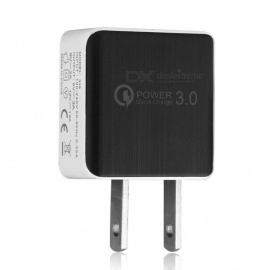 QC 3.0 5V 3A Fast Quick Charge US Plug USB AC Charger Wall Charger - Black