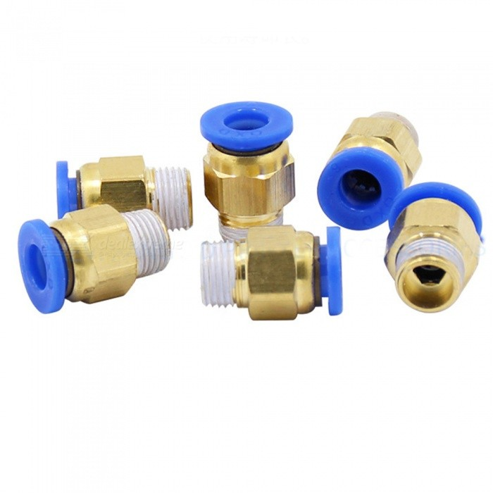 3D Printer Accessories Pneumatic Quick Plug Hot End Hot End Air Intake Brass 3mm Inlet (6PCS)3D Printer Parts<br>Size3mmModelPC6Quantity1 DX.PCM.Model.AttributeModel.UnitMaterialBrassPacking List6 x Pneumatic quick plug<br>