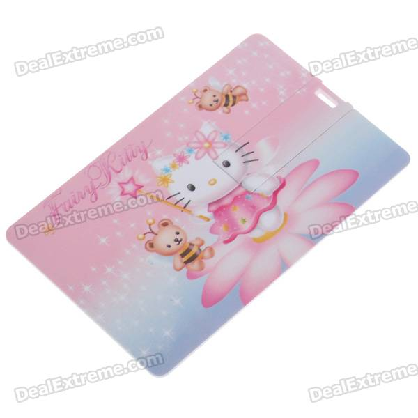 Credit Card Style USB 2.0 Flash/Jump Drive - Hello Kitty (4GB)