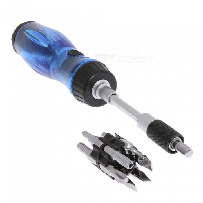 Multi-functional 13-in-1 Ratchet Screwdriver Set Precision Torx Hex Phillips Screwdriver Set Handle Repair Opening ToolOther Tools<br>ColorBlueQuantity1 DX.PCM.Model.AttributeModel.UnitMaterialMetalPacking List1 x Tools<br>