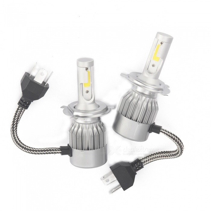 ZHAOYAO H4 36W 3800ML C6 Car LED Bulb Headlights (One Pair) - Free ...