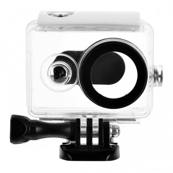 JEDX 40m Waterproof Housing Case for Xiaomi YI 1080P Sport Action CameraBags &amp; Cases<br>ColorWhite + BlackModelA208Quantity1 DX.PCM.Model.AttributeModel.UnitMaterialPlasticShade Of ColorWhiteCompatible ModelsOthers,Xiaomi YI 1080P Sport Action CameraWater ResistantWater Resistant 5 ATM or 50 m. Suitable for swimming, white water rafting, non-snorkeling water related work, and fishing.Anti-ShockYesSizeOthersDimension7.5*7*4.5 DX.PCM.Model.AttributeModel.UnitInner Dimension6*2.5*2.5cmPacking List1 x Waterproof Case (Camera is not included)<br>