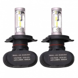 S1 H4 50W Super Bright Car LED Headlight (2 PCS)