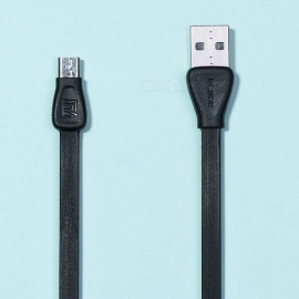 REMAX Martin Colorful Micro USB Data Cable, PVC Flat Charging Sync Data Transfer Cable for Xiaomi/Sony/Samsung/HTC 1m/black