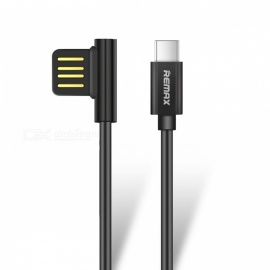REMAX USB3.1 Type-C Data Cable, Portable 90 Degree Dual USB-C Durable Charger Cable for Nexus 5X 6P HTC 10 LG G5 1m/Black
