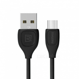 REMAX Lesu USB-C Data Cable, USB3.1 Type-C Fast Charging / Data Transfer Cable for Xiaomi 4C/Macbook/Nexus 5X 1m/black
