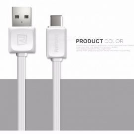 REMAX Portable Type-C to USB3.0 Data Transfer Cable, USB-C Fast Charging Charger Cable for Macbook/Xiaomi/Huawei/LG 1m/White