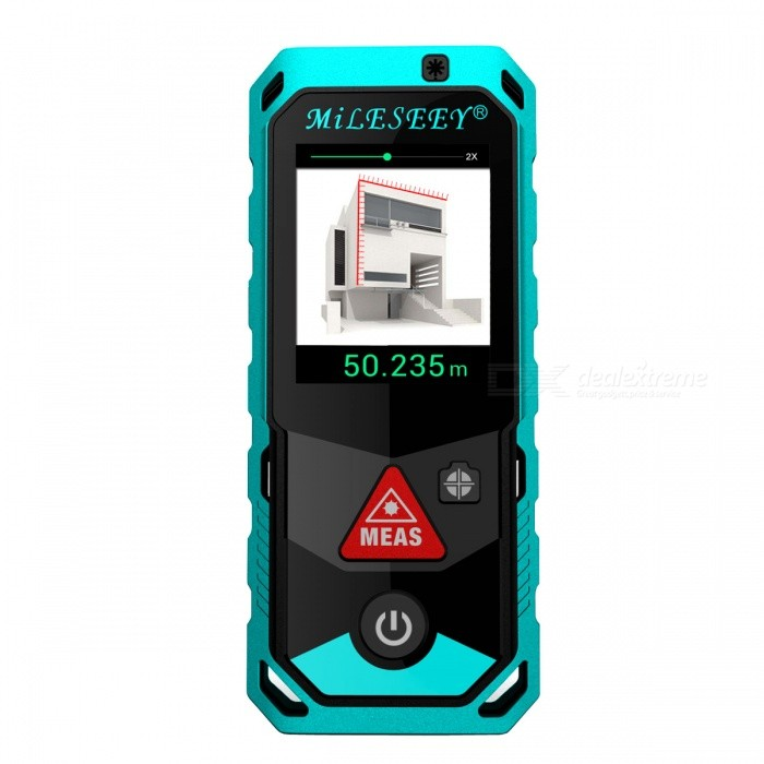 Mileseey P7 100m 2.0 LCD Handheld Laser Distance RangefinderLaser Rangefinder, Electronic Distance Meter<br>Form  ColorBlack + BlueForm  ColorBlack + BlueModelP7Quantity1 DX.PCM.Model.AttributeModel.UnitMaterialABS + TPEDetection Range0.2-100mMeasuring Accuracy±2mmLaser Level630-670nm1mWMax.Storage100Display2.0 LCDPowered ByOthers,3?AAA battery powered(NI-MH rechargeable battery)Battery included or notYesEnglish Manual / SpecYesPacking List1 x Laser rangefinder 3 x AAA batteries 1 x User manual<br>