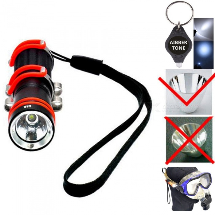 Archon W1A Mini Diving Light + 1Pc AIBBER TONE LED Key ChainDiving Flashlights<br>ColorBlackModelW1A Diving LightQuantity1 setMaterialDurable aircraft-grade aluminum.Emitter BrandCreeLED TypeXP-EEmitter BINR3Color BINWarm WhiteNumber of Emitters1Theoretical Lumens75 lumensActual Lumens75 lumensPower SupplyAAA Battery * 1Working Voltage   1.5 V to 0.8 VCurrent- ARuntime2 hoursNumber of Modes1Mode ArrangementHiMode MemoryNoSwitch TypeTwistySwitch LocationHead TwistyLens Material1.5 mm polycarbonate lensReflectorOthers,orange peel aluminum reflectoWorking Depth Underwater100 mStrap/ClipStrap included,Clip includedPacking List1 x ARCHON D1A diving bright flashlight1 x AIBBER TONE led key chain<br>