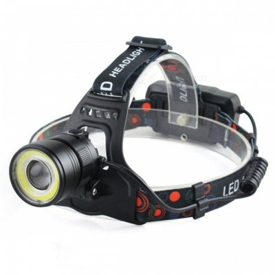 SPO T6 Portable Ultra Bright 4-Mode Rechargeable Headlamp for Hunting, Fishing