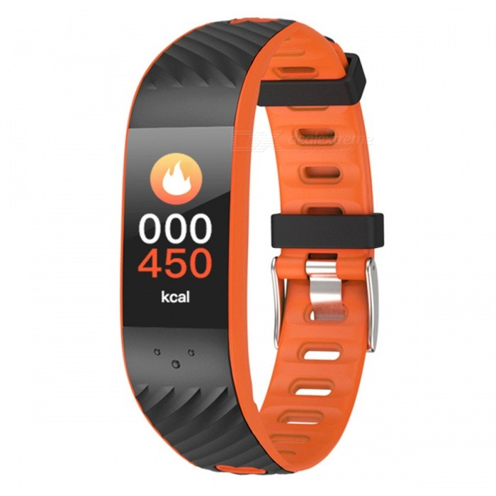 P4 Color Screen Intelligent Bluetooth Bracelet w/ Blood Pressure Movement, Heart Rate Monitoring, IP67 Waterproof - OrangeSmart Bracelets<br>ColorOrangeModelP4Quantity1 DX.PCM.Model.AttributeModel.UnitMaterialTPUWater-proofIP67Bluetooth VersionBluetooth V4.0Touch Screen TypeOthers,OLEDOperating SystemAndroid 4.4,iOSCompatible OSAndroid IOSBattery Capacity130 DX.PCM.Model.AttributeModel.UnitBattery TypeLi-ion batteryStandby Time10 DX.PCM.Model.AttributeModel.UnitPacking List1 x Smart Bracelet1 x User handbook1 x Charge line<br>