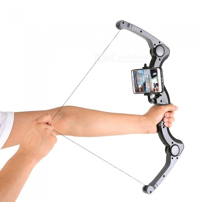 Augmented Virtual Reality High-Tech ARcher Game Toy with Bluetooth ConnectionOther Consoles Accessories<br>ColorBlackQuantity1 DX.PCM.Model.AttributeModel.UnitMaterialABSShade Of ColorBlackPacking List1 x ARcher1 x Manual<br>