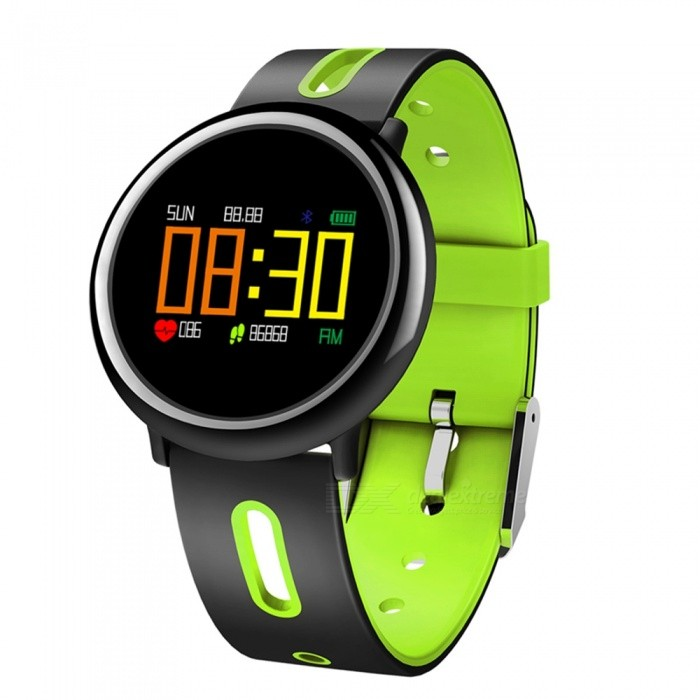 HB08 0.95 OLED Smart Bracelet w/ Heart Rate Monitor, Blood Pressure, Fitness Activity Tracker, Pedometer - GreenSmart Bracelets<br>ColorGreenModelHB08Quantity1 DX.PCM.Model.AttributeModel.UnitMaterialABSWater-proofIP67Bluetooth VersionBluetooth V4.0Touch Screen TypeYesCompatible OSAndroid system 4.4 version or above ;iOS system 8.0 version or above ;Support  bluetooth with 4.0 versionBattery Capacity200 DX.PCM.Model.AttributeModel.UnitBattery TypeLi-polymer batteryStandby Time5-7 DX.PCM.Model.AttributeModel.UnitPacking List1 x Smart Band1 x Charging cable1 x User manual<br>