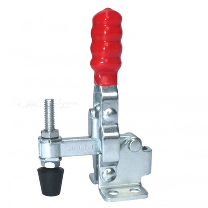 ZHAOYAO GH-12050 Quick Release Hand Tool Vertical Type Toggle Clamp with Holding Capacity 91KgDIY Parts &amp; Components<br>ColorWhite + RedQuantity1 DX.PCM.Model.AttributeModel.UnitMaterialIronEnglish Manual / SpecNoCertification-Packing List1 x Toggle Clamp<br>