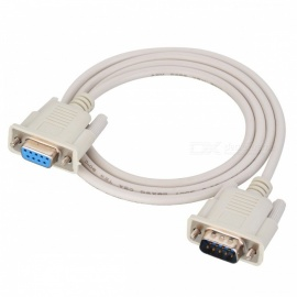 JEDX DB9p Male to Female Extension Serial Port Line Cable for PC - Off-White (1m)