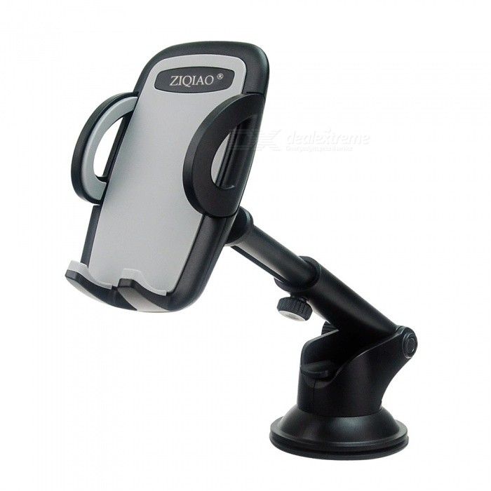 ZIQIAO Universal 360 Degree Adjustable Window Windshield Dashboard Holder Stand for IPHONE GPS Mobile PhonesGPS Holders<br>ColorBlack+GreyModelL-002Quantity1 DX.PCM.Model.AttributeModel.UnitMaterialABSApplicable ProductsOthers,UniversalAdjustable HeightN/AAdjustable Width:48~95mmRotation360 DX.PCM.Model.AttributeModel.UnitMax. Load5 DX.PCM.Model.AttributeModel.UnitPacking List1 x Car Holder<br>