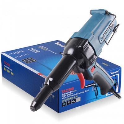 Original Time-proof TAC500 Electric Riveter Blind Rivet Gun Riveting Tool, 220V 400W Electrical Power Tool Economical Version