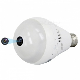VESKYS 1536P 360 Degree Fish Eye Lens 3.0MP Wireless Wi-Fi Panorama Lamp Bulb Shape lnfrared And White Light IP Camera
