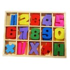 Math Training Wooden Numbers Box
