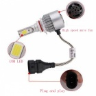 JRLED C6 H11 36W Cold White Ultra Bright Headlamp Headlight w/ Slient Fan Heat Dissipation (2 PCS / DC12-24V)