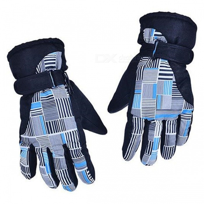 CTSmart AT8816 Unisex Outdoor Mountaineering Fishing Non-Slip Waterproof Padded Gloves - Blue + White + Black