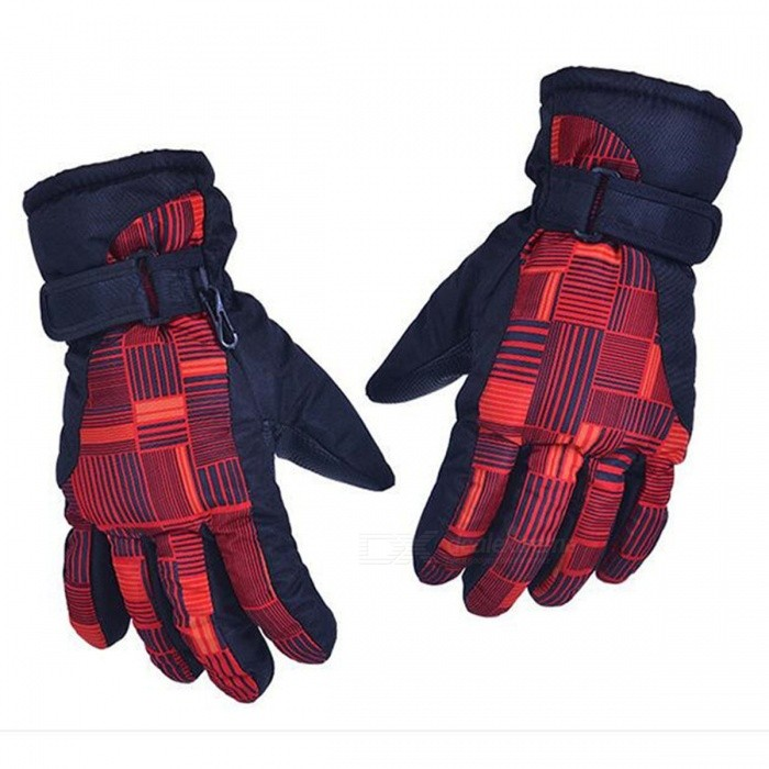 CTSmart AT8816 Unisex Outdoor Mountaineering Fishing Non-Slip Waterproof Padded Gloves - Red