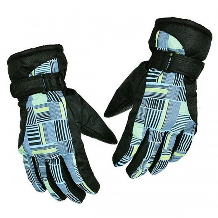CTSmart AT8816 Unisex Outdoor Mountaineering Fishing Non-Slip Waterproof Padded Gloves - Blue + Yellow + Black