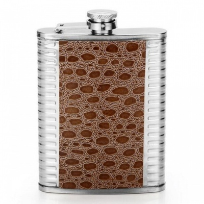CTSmart AT6629 Outdoor Mountaineering Fishing Stainless Steel Portable Hip Flask - Brown