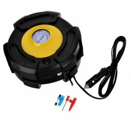 JEDX 12V Tire Inflator Air Pump Air Compressor for Car SUV Motor Bike Truck - Black