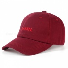 Kendrick lamar embroidery damn rapper baseball cap, unstructured dad casual sports hat for men, women wine red
