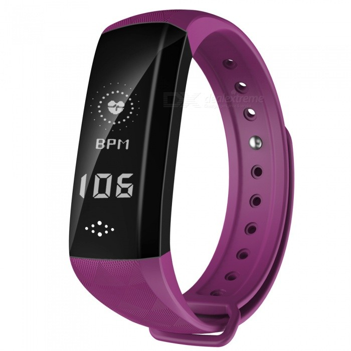 M2H 0.96 OLED BT4.0 IP67 Smart Bracelet with Heart Rate Monitoring - PurpleSmart Bracelets<br>ColorPurpleModelM2HQuantity1 setMaterialPC + Silica gelWater-proofIP67Bluetooth VersionBluetooth V4.0Touch Screen TypeYesOperating SystemNoCompatible OSAndroid4.4 (contain), IOS8.0 contain) aboveBattery Capacity80 mAhBattery TypeLi-polymer batteryStandby Time15 daysPacking List1 x Smart Bracelet1 x User Manual<br>