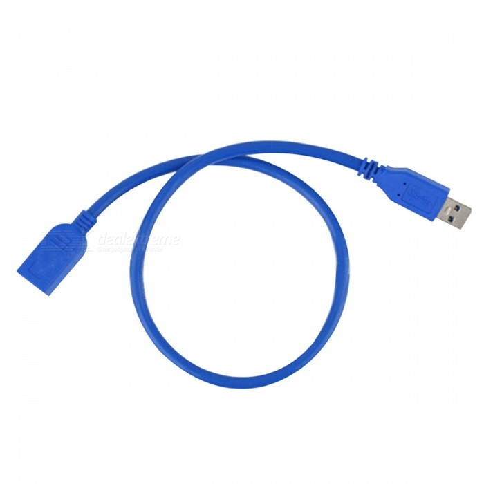 Dayspirit USB3.0 Male to Female Extension Cable, USB 3.0 M/F Connector Adapter - 60cmAV Adapters And Converters<br>ColorBlue-60cmModelN/AMaterialOFCQuantity1 pieceConnectorUSBPacking List1 x Data cable<br>